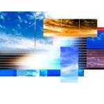 Sky collage — Stock Photo