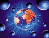 Mondo nell'illustrazione di spazio — Foto Stock