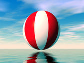 Beach ball illustration — Stock Photo