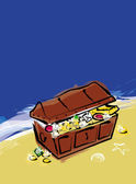 Treasure chest illustration — Stock Photo