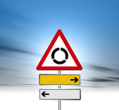 Roundabout road sign — Stock Photo