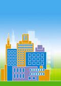 Illustratie van gebouwen — Stockfoto
