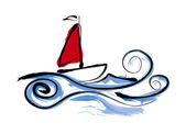 Sailing Boat illustration — Stock Photo