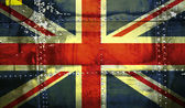 Union Jack Flag on steel background — Stock Photo