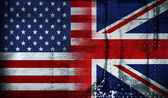 Stars and stripes & union jack — Stock Photo