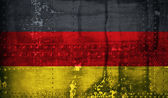 Grunge German flag — Stock Photo
