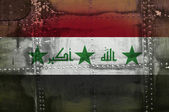 Grunge Iraq flag — Stock Photo