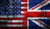 UK USA FLAG — Stock Photo