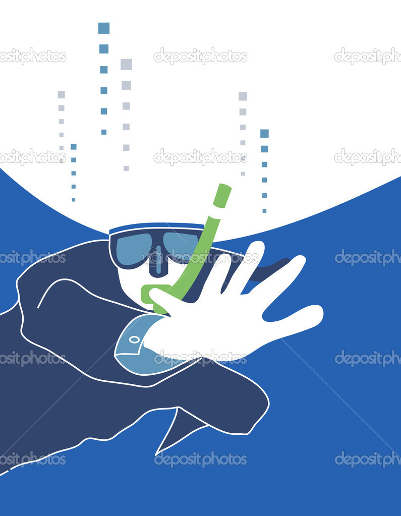 Diver illustration  Stock Photo #5980900