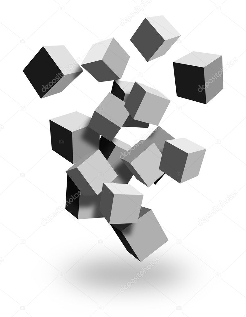 Falling boxes — Stock Photo #5987269
