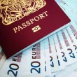 Royalty-Free Stock Photo: UK passport and euros