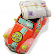 Money and car money box — Stock Photo