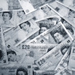 English banknotes - Stock Photo