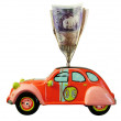 Car money box — Stock Photo