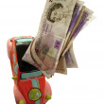 Car money box — Stock Photo