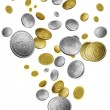 Stock Photo: Falling coins