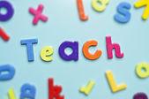 Teach alphabet letters — Stock Photo
