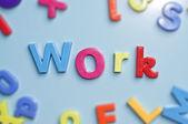Work alphabet letters — Stock Photo