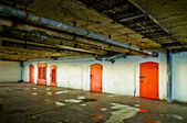 Red doors — Zdjęcie stockowe