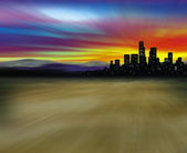 City in desert — Stock Photo