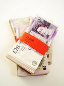 Twenty pound notes — Stock Photo