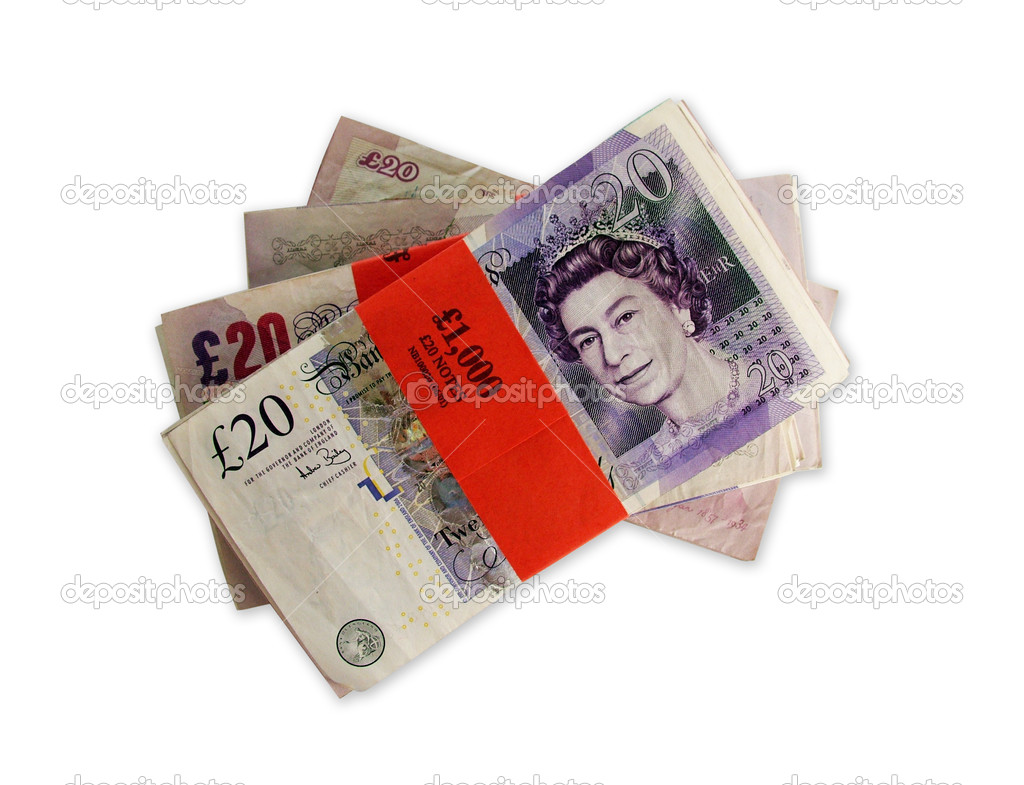 English banknotes — Stock Photo #6003985