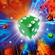 Stock Photo: Rolling dice