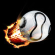 Royalty-Free Stock Photo: Football through fire