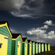 Stock Photo: Beach huts