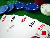 Poker kaartspel — Stockfoto