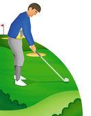 Golfer illustration — Stock Photo