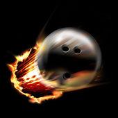 Bowling ball fire — Stock Photo