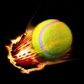 Feu de balle de tennis — Photo