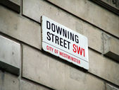 Downing street sign — Stock Photo