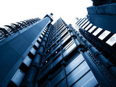 Tall buildings looking up — Stock Photo