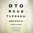 Stock Photo: Eye test chart