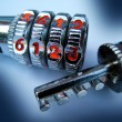 Stockfoto: Combination lock