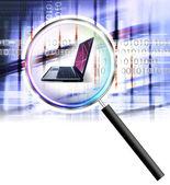 Secure laptop — Stock Photo