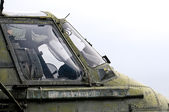 Military Helicopter cockpit — Stock Photo