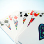 Card trick — Stock Photo