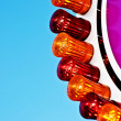 Fairground lights — Stock Photo