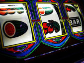 Gambling slot machine — Stock Photo