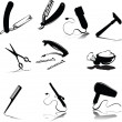 Accessories for hygiene vector silhouettes — Stock Photo #5982745