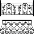 Balcony railings — Stock Photo #6596083