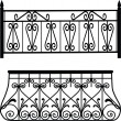 Balcony railings — Stock Photo