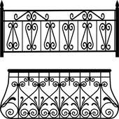 Balcony railings — Stock Photo