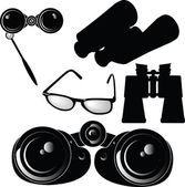 Binoculars glasses vector — Photo