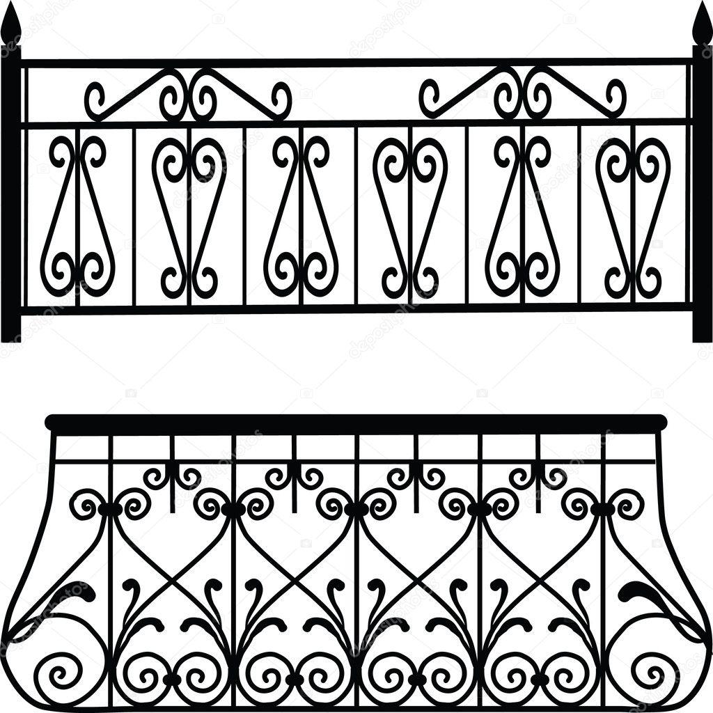 Balcony railings stock photo fica 6596083 for Balcony vector