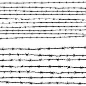 Barbed wire horizontally — Stock Photo