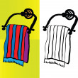 Bath towel vector — Stock Photo